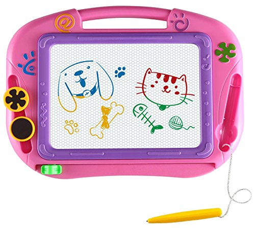 EEDan Magnetic Drawing Board For Kids- Erasable Colorful Magna Doodle Drawing Board Toys for Kids Writing Sketching Pad- Gift Little Girls Travel ()