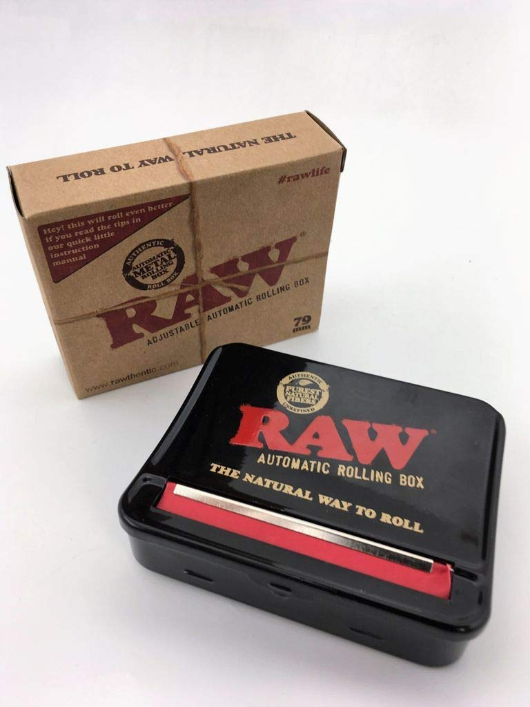 RAW 79mm Adjustable Automatic Cigarette Rolling Box (RED) by RAW