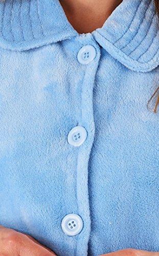 lusso manica giacca Blu 3 a grande Ladies Slenderella e 4 XXL piccola pile media 260GSM letto morbido XL taglia pulsante xISqSPY