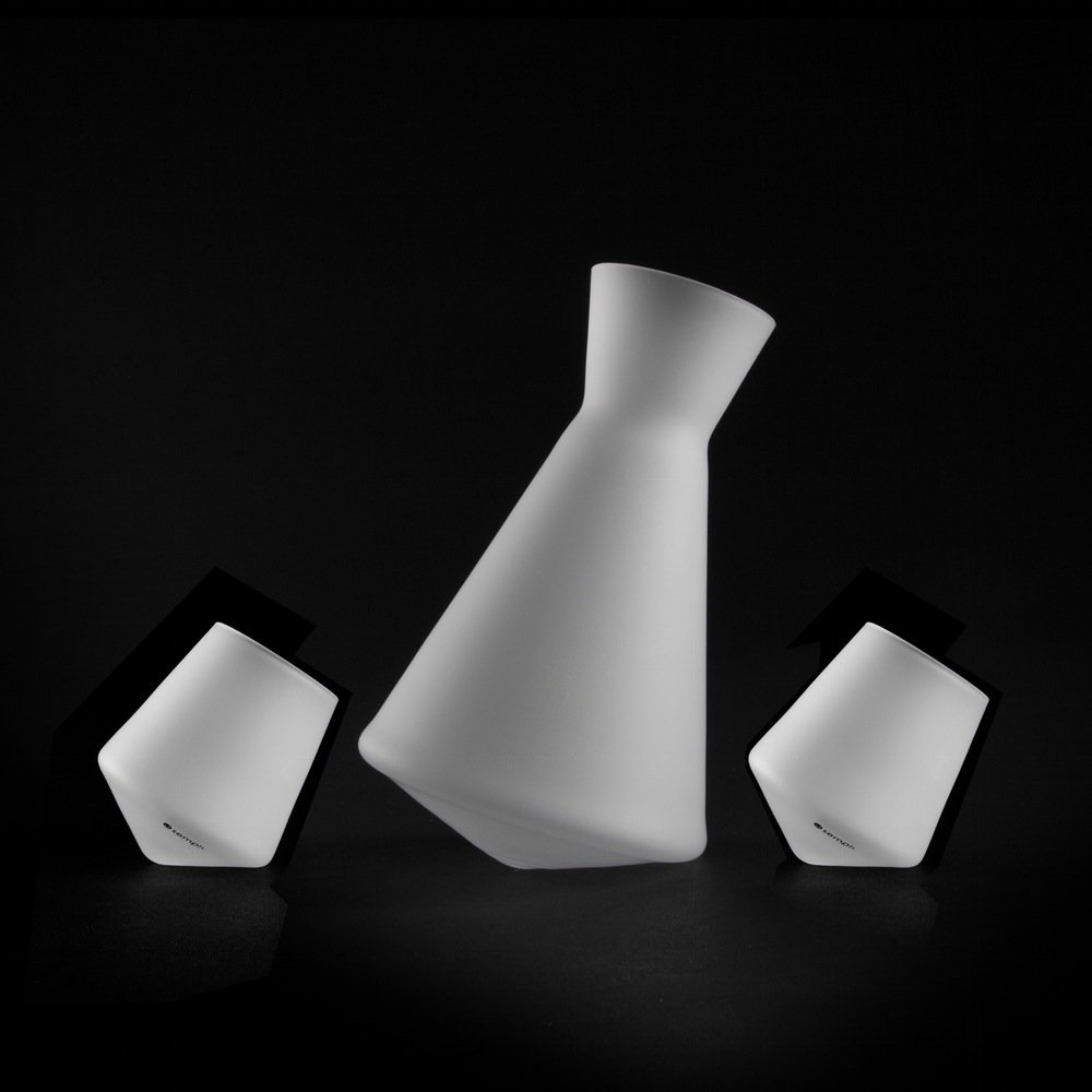 Sempli Vaso-Sake Set ICE, Frosted Decanter and 2 Shot Glasses in Gift-box