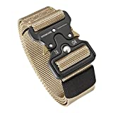 Men's Tactical Belt Heavy Duty Webbing Belt Adjustable Military Style Nylon Belts with Metal Buckle