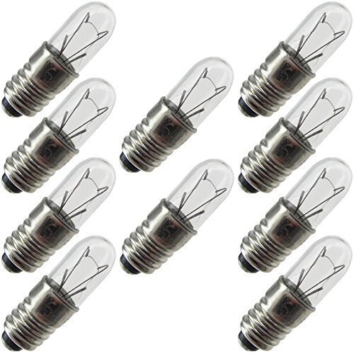 (Industrial Performance 1767, 0.5 Watt, T1.75, Midget Screw (E5) Base Light Bulb (10 Bulbs))