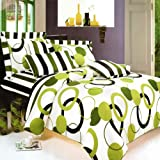 Blancho Bedding - [Artistic Green] 100% Cotton 7PC MEGA Duvet Cover Combo (King Size)