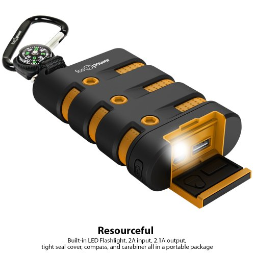 FosPower PowerActive 10200 mAh electricity Bank 21A USB end product water Shock Dust Proof robust Heavy duty handheld Battery Charger for iPhone iPad Android Smartphones Tablets MP3 Batteries