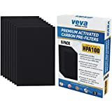 Precut for HPA100 Premium Carbon Activated Pre Filters 8 Pack compatible with Honeywell Air Purifier Models 090, 094, 100, 104, 105, HA106. Precision Fit for Easy Installation by Veva Advanced Filters