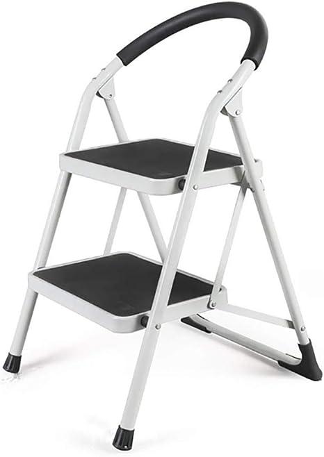 LYJBT Metal Plegable Escaleras de Seguridad de 2 peldaños Ascendentes Taburetes de Cocina portátiles Inicio Escalera de Tijera Herramientas de jardín (Color : Blanco): Amazon.es: Hogar