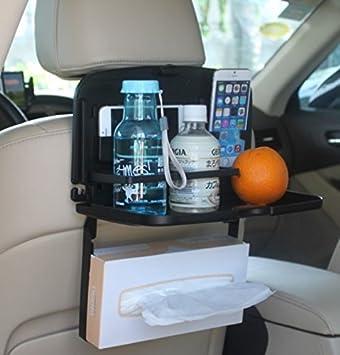 Car Back Seat Folding Table Storage Room Saving Organiser Laptop Accessories UK