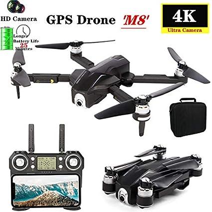 Yiwa GPS RC Drone M8 5G WiFi FPV 4K Ultra HD Cámara GPS ...