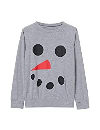 LIKESIDE Men Long Sleeve Snowman Top Blouse Family Christmas Matching T-Shirt
