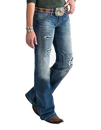 151fa5f3e09 Cruel Girl Western Jeans Womens Jayley Trouser Stonewash CB11954001 at Amazon  Women s Jeans store