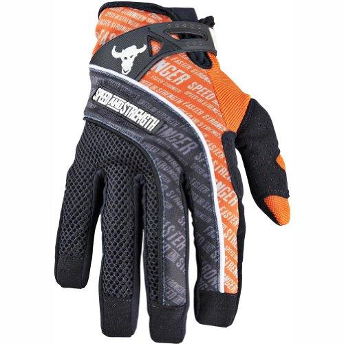 Speed and Strength Lunatic Fringe Men's Mesh/Textile Street Motorcycle Gloves - Orange / Medium