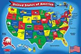 Baby : Melissa & Doug USA Map Floor Puzzle (51 pcs, 2 x 3 feet)