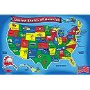Melissa & Doug USA Map 51 pcs Floor Puzzle