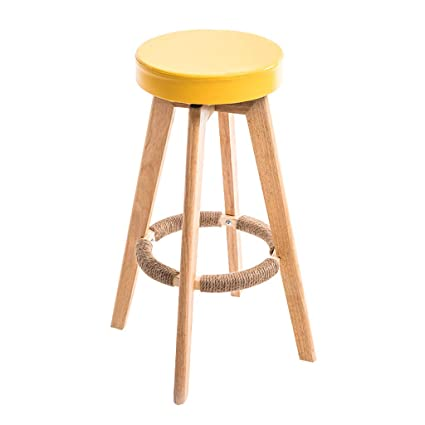 Furniture Fashion Bar Chair Pu Rotating Stool Lift Bar Chair Flexible Bar Chair Backrest High Stool Cotton And Linen Beauty Stool Bar Consumers First