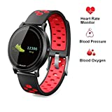 Smart Watch for Android Samsung,Businda Smart Bracelet with Blood Oxygen Pressure Heart Rate Waterproof Activity Tracker for Women Men