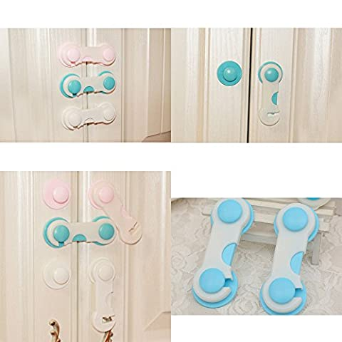 VIPASNAM-HOT Drawer Cabinet Cupboard Multi-function Door Latch Lock Child Safety Protect - Double Cylinder Rim Device