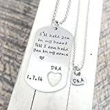 custom dog tag and necklace stainless steel military tag hand stamped jewlery Boyfriend Gift Girfriend Friend Long Distance Relationship