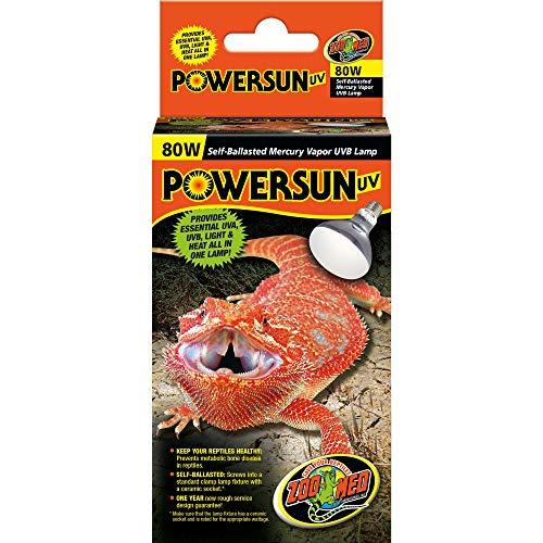 ZOO MED LABORATORIES INC Powersun Uv Self-Ballasted Mercury Vapor Uvb Lamp 80 WATTS