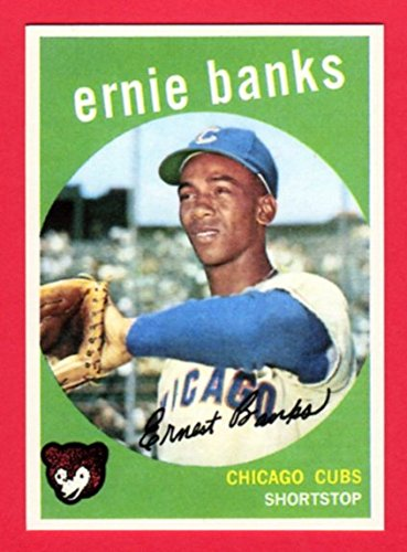 Ernie Banks 1959 Topps Baseball Reprint Card (Cubs)
