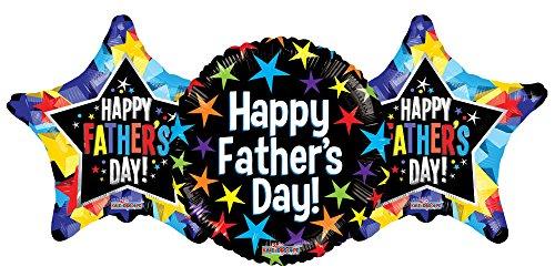 Multi Color Star Design - Happy Father's Day Multicolor Star Design 18