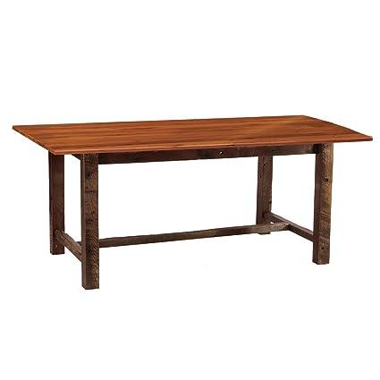 Amazon Com 96 Barnwood Farmhouse Dining Table Real Wood Western