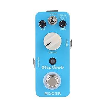 Muslady Mooer Cielo Verbo Micro Mini Reverb Pedal de Efecto para Guitarra Eléctrica True Bypass: Amazon.es: Instrumentos musicales