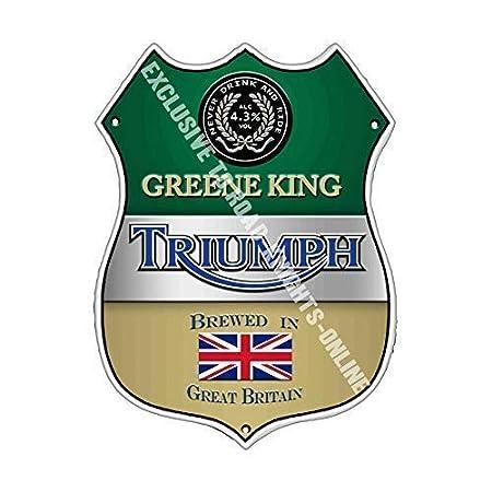 Greene King Triumph Bar Anuncio Cerveza Antigua Pub Bebidas ...