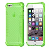 iPhone 6s Case, LUVVITT [Clear Grip] Soft Slim Flexible TPU Back Cover Transparent Rubber Case for Apple iPhone 6 / iPhone 6s (4.7 inch) - Neon Green