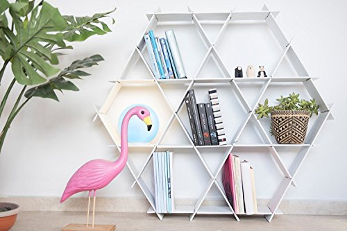 Ruche shelving unit, Size large- bookcase, cardboard book shelf, shelves