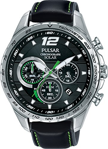 Amazon.com: Pulsar Solar Chronograph PZ5023X1 Mens Chronograph Classic & Simple: Watches