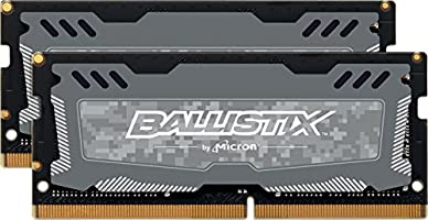 Ballistix Sport LT 16GB Kit (8GBx2) DDR4 2666 MT/s (PC4-21300) DR x8 SODIMM 260-Pin - BLS2K8G4S26BFSD (Gray)