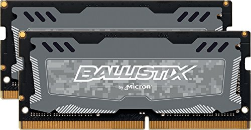 Ballistix Sport LT 32GB Kit (16GBx2) DDR4 2666 MT/s (PC4-21300) CL16 DR x8 SODIMM 260-Pin - BLS2K16G4S26BFSD (Gray) ()
