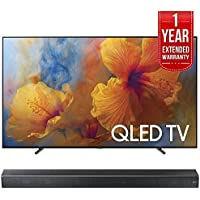 Samsung QN65Q9FAM 65-Inch 4K Ultra HD Smart QLED TV (2017 Model) w/ Samsung HW-MS650/ZA Sound+ Premium Soundbar + 1 Year Extended Warranty