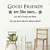 Best Are Like Stars Wall Stickers - mlipz Mural Saying Wall Decal Sticker Art Mural Review