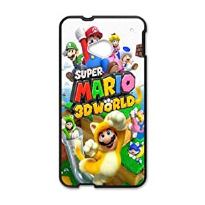 Super Mario 3D World Game HTC One M7 Cell Phone Case Black Gift pjz003_3176362
