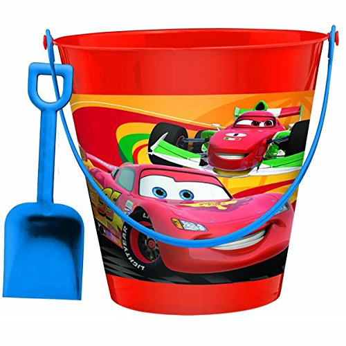 AmscanDisney Cars 2 Birthday Party Pail And Shovel Favor, 7 1/4
