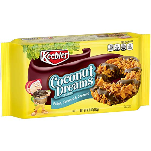 (Keebler Coconut Dreams Cookies, Fudge, Caramel & Coconut, 8.5oz Tray)