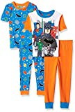 DC Comics Boys' Big Justice League 4-pc Pj, Incl. 2 Sets, Long Sleeve and Pant,