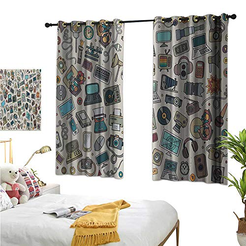 Luckyee Decor Curtains by,Doodle,72
