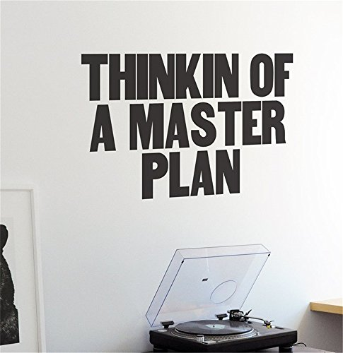Cheap  Thinkin of a Master Plan Wall Decal Inspirational Quote Vinyl Wall Decal..