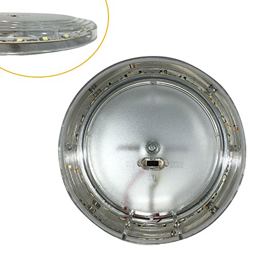 Frosted Dome Lens - 12v-LEDlight Euro-style Car Door Light with Clear & Frosted Lens - 24 LED RV Dome Light Fixtures - 5.9inch Interior Incandescent Replacement Light