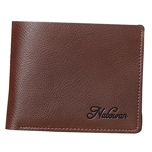 Billetera 01 de Billetera Money Corta Dinero para Billetera Hombre bi Hombres Hombres Clip Moda Embrague Bolso de PU Bolsa LEIU de de Mano aBX5wgq