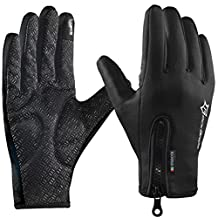 ROCKBROS Winter Cycling Gloves Touch Screen Windproof Fleece Thermal Anti-Skid Full Finger Gloves