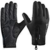 Best Bicycle Gloves - ROCKBROS Winter Cycling Gloves Touch Screen Windproof Fleece Review