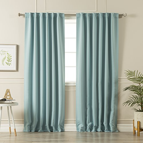 ermal Insulated Blackout Curtains - Back Tab/Rod Pocket - 52