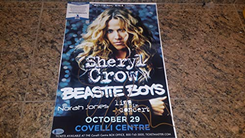 SHERYL CROW gorgeous signed 11x17 Covelli Center Youngstown concert print/BAS COA