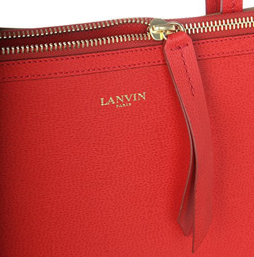 Lanvin New Easy Femmes Sac Shopper Beige/Rouge LAN007-BERE