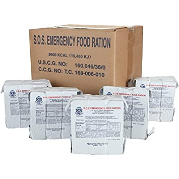 SOS Food Labs Rations Emergency 3600 Calorie Food Bar – 3 Day 72 Hour Package with 5 Year Shelf Life- FULL CASE
