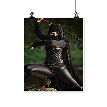 Amazon.com: Rich in Color Female Ninja in Battle Print Decor ...
