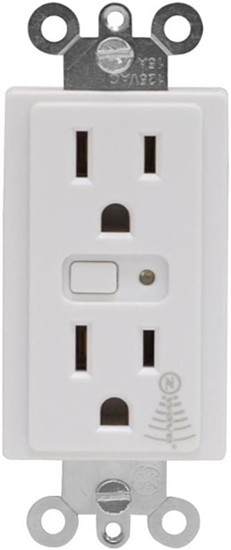 GE 15-Amp White Duplex Electrical Outlet With Iris Technology Jasco CECOMINOD043711